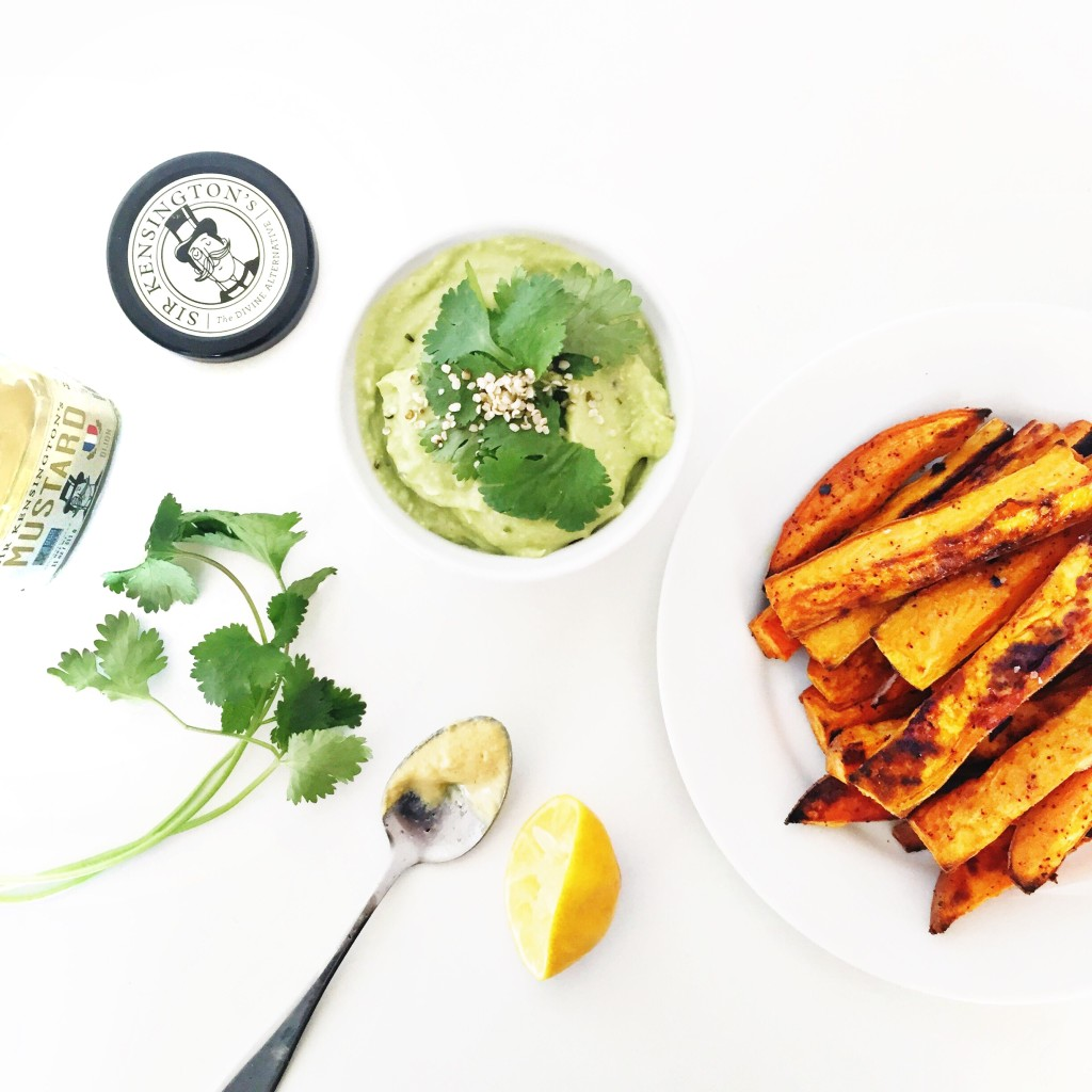 sweet potato fries with avocado aioli - Clean Food Dirty City