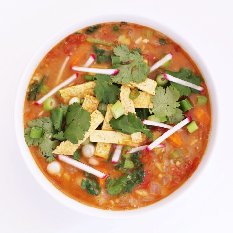 vegan tortilla soup - Clean Food Dirty City